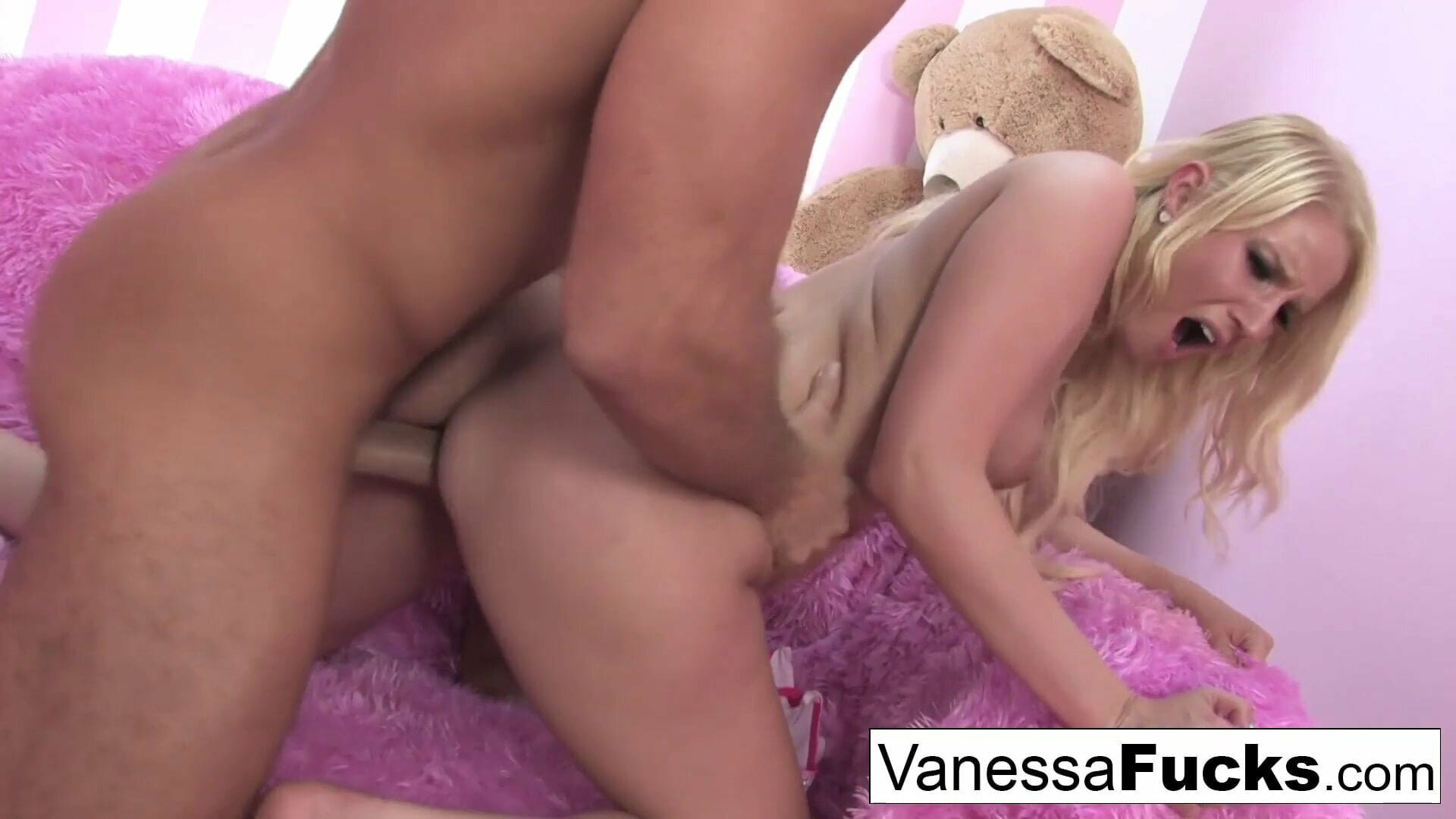 Interview and sex with cute Vanessa Cage and a big cock