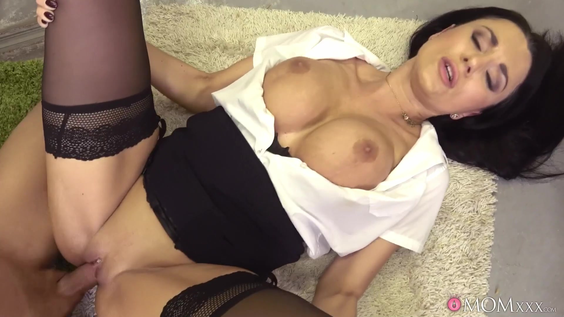 Ania Kinski spreads legs to fuck in the warehouse